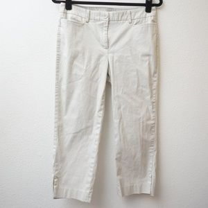 TALBOTS PERFECT SKIMMER OFF WHITE PANTS SIZE 4